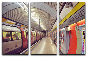 Tube 3 Split Panel Canvas Print - Canvas Art Rocks - 1