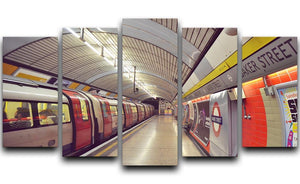 Tube 5 Split Panel Canvas  - Canvas Art Rocks - 1