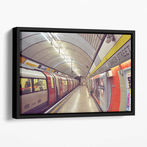 Tube Floating Framed Canvas