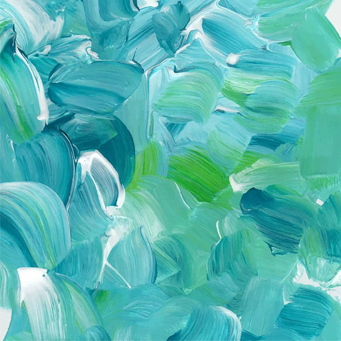 Turquoise blue oil paint Wall Mural Wallpaper