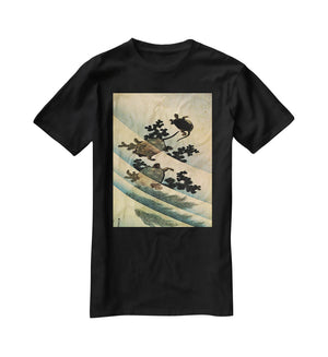 Turtles by Hokusai T-Shirt - Canvas Art Rocks - 1