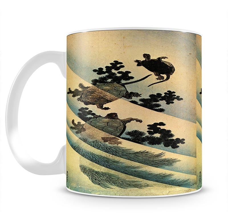 Turtles by Hokusai Mug - Canvas Art Rocks - 2