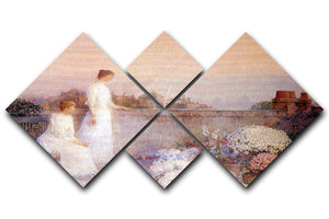 Twilight by Hassam 4 Square Multi Panel Canvas - Canvas Art Rocks - 1