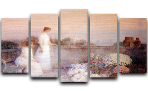 Twilight by Hassam 5 Split Panel Canvas - Canvas Art Rocks - 1