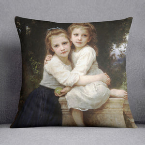 Two Sisters By Bouguereau Cushion