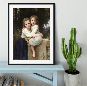 Two Sisters By Bouguereau Framed Print - Canvas Art Rocks - 1