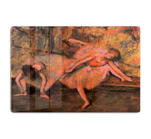 Two dancers on a bank by Degas HD Metal Print - Canvas Art Rocks - 1