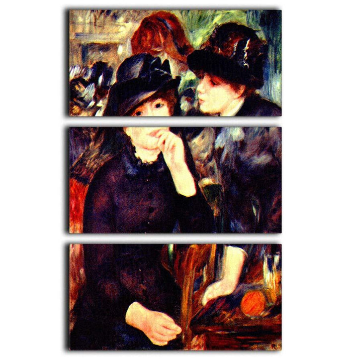 Two girls in black by Renoir 3 Split Panel Canvas Print