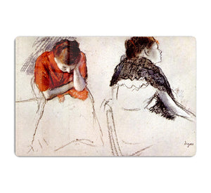 Two women seated by Degas HD Metal Print - Canvas Art Rocks - 1