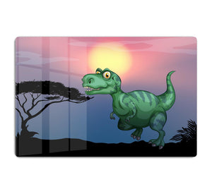 Tyrannosaurus rex in the field HD Metal Print