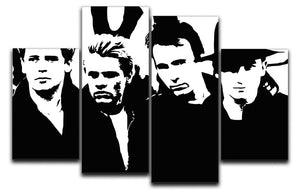 U2 4 Split Panel Canvas  - Canvas Art Rocks - 1