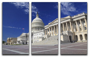 US Capitol Washington DC 3 Split Panel Canvas Print - Canvas Art Rocks - 1