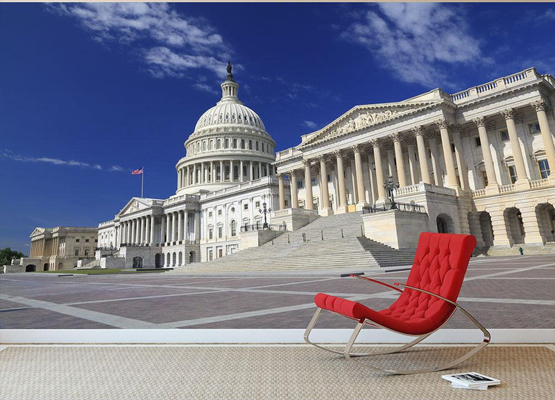 US Capitol Washington DC Wall Mural Wallpaper - Canvas Art Rocks - 1
