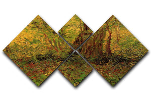 Undergrowth 2 by Van Gogh 4 Square Multi Panel Canvas  - Canvas Art Rocks - 1