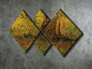 Undergrowth 2 by Van Gogh 4 Square Multi Panel Canvas - Canvas Art Rocks - 2