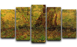 Undergrowth 2 by Van Gogh 5 Split Panel Canvas  - Canvas Art Rocks - 1