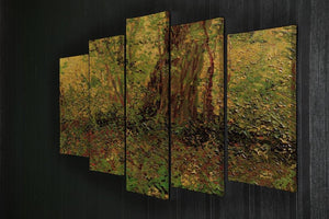 Undergrowth 2 by Van Gogh 5 Split Panel Canvas - Canvas Art Rocks - 2