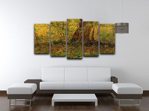 Undergrowth 2 by Van Gogh 5 Split Panel Canvas - Canvas Art Rocks - 3