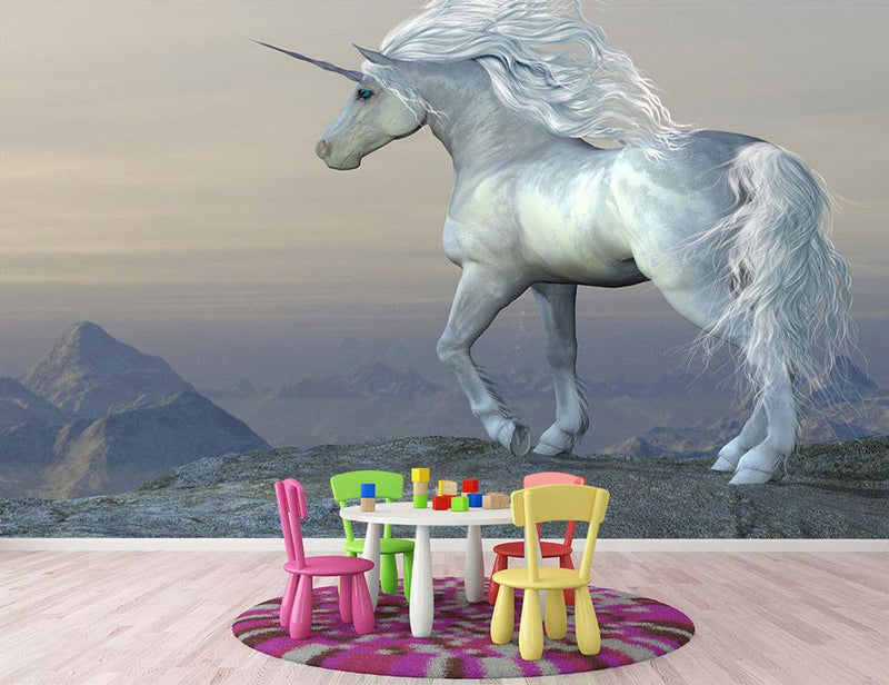 Unicorn Bluff Wall Mural Wallpaper - Canvas Art Rocks - 1