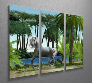 Unicorn buck prances 3 Split Panel Canvas Print - Canvas Art Rocks - 2