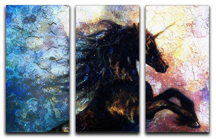 Unicorn dancing 3 Split Panel Canvas Print