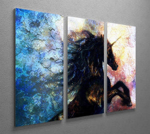 Unicorn dancing 3 Split Panel Canvas Print - Canvas Art Rocks - 2