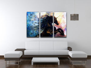 Unicorn dancing 3 Split Panel Canvas Print - Canvas Art Rocks - 3