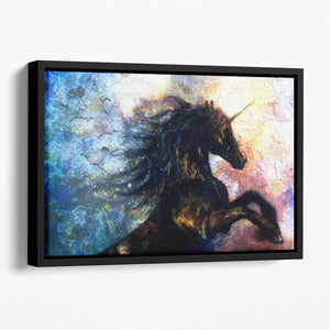 Unicorn dancing Floating Framed Canvas