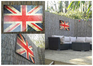 Union Jack Distressed Flag Metal Print - Canvas Art Rocks - 2