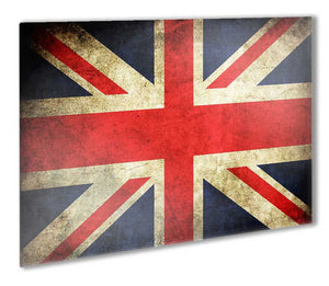 Union Jack Distressed Flag Metal Print - Canvas Art Rocks - 1