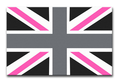 Union Jack Pink Print - They'll Love Wall Art - 1