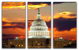 United States Capitol Building 3 Split Panel Canvas Print - Canvas Art Rocks - 1