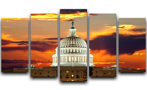United States Capitol Building 5 Split Panel Canvas  - Canvas Art Rocks - 1