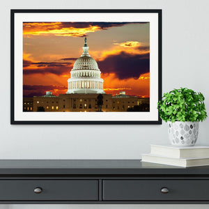 United States Capitol Building Framed Print - Canvas Art Rocks - 1