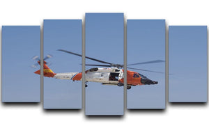 United States Coast Guard helicopter 5 Split Panel Canvas  - Canvas Art Rocks - 1