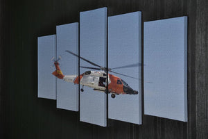 United States Coast Guard helicopter 5 Split Panel Canvas  - Canvas Art Rocks - 2