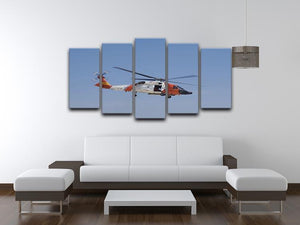 United States Coast Guard helicopter 5 Split Panel Canvas  - Canvas Art Rocks - 3