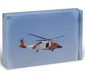 United States Coast Guard helicopter Acrylic Block - Canvas Art Rocks - 1