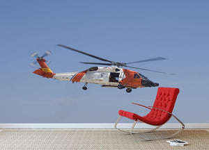 United States Coast Guard helicopter Wall Mural Wallpaper - Canvas Art Rocks - 2