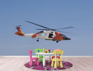 United States Coast Guard helicopter Wall Mural Wallpaper - Canvas Art Rocks - 3