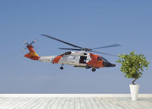 United States Coast Guard helicopter Wall Mural Wallpaper - Canvas Art Rocks - 4
