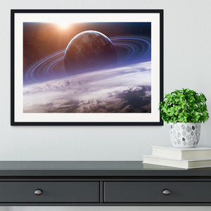 Universe scene with planets Framed Print - Canvas Art Rocks - 1
