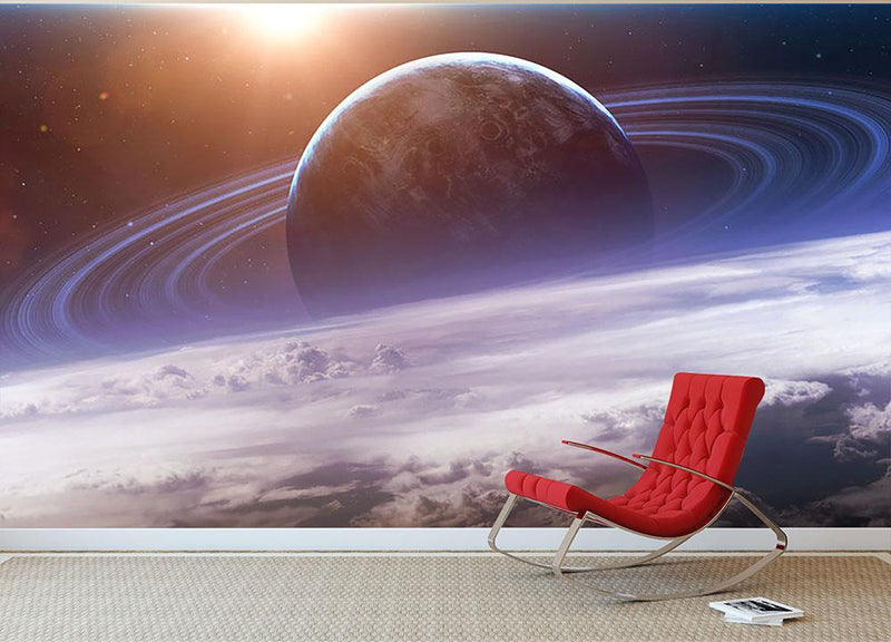 Universe scene with planets Wall Mural Wallpaper - Canvas Art Rocks - 1