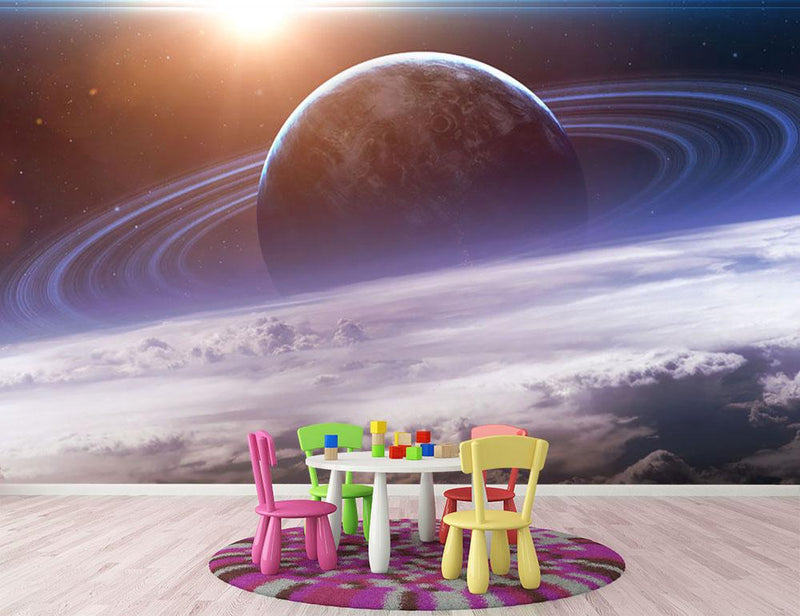Universe scene with planets Wall Mural Wallpaper - Canvas Art Rocks - 3