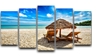 Vacation holidays 5 Split Panel Canvas - Canvas Art Rocks - 1