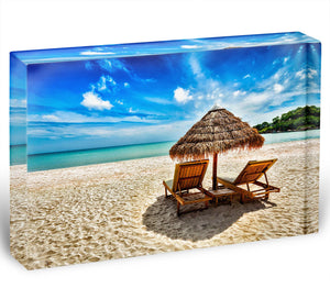 Vacation holidays Acrylic Block - Canvas Art Rocks - 1