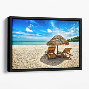 Vacation holidays Floating Framed Canvas