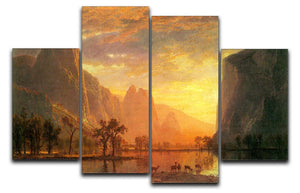 Valley in Yosemite by Bierstadt 4 Split Panel Canvas - Canvas Art Rocks - 1