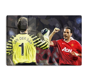 Van Der Sar And Rio Ferdinand HD Metal Print