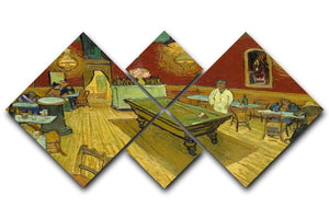 Van Gogh Night Cafe 4 Square Multi Panel Canvas  - Canvas Art Rocks - 1